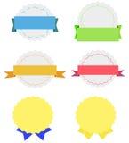 Colección de insignias en diversos colores Foto de archivo libre de regalías