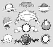 Colección de insignias y de iconos del vintage Fotos de archivo