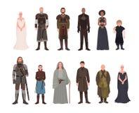 Colección de juego del varón de la adaptación de la novela y de la televisión de la fantasía de los tronos y de caracteres fictic