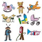 Colección de juguetes Imágenes de archivo libres de regalías