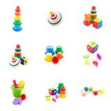 Colección de juguetes del bebé Fotografía de archivo