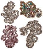 Colección de línea original arte del drenaje de la mano adornado ilustración del vector