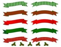 Colección de la bandera de la Navidad Fotos de archivo libres de regalías