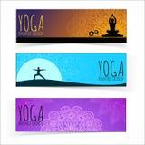 Colección de la bandera de la yoga Imagen de archivo libre de regalías