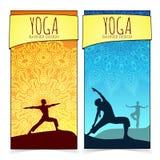 Colección de la bandera de la yoga Foto de archivo libre de regalías
