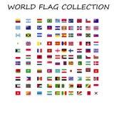 Colección de la bandera del mundo en un lugar libre illustration