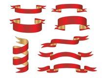 Colección de la bandera fije el elemento de la bandera Imágenes de archivo libres de regalías