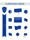 Colección de la bandera de unión europea libre illustration