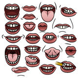 Colección de la boca Imágenes de archivo libres de regalías