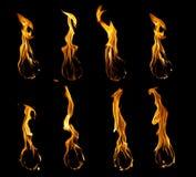 Colección de la bola de fuego Imagen de archivo libre de regalías
