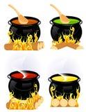 Colección de la caldera stock de ilustración