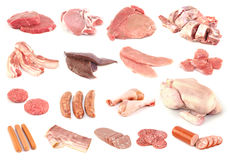 Colección de la carne Imagen de archivo