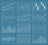 Colección de la carta de negocio Sistema de gráficos Visualización de los datos Fotos de archivo