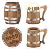 Colección de la cerveza Fotografía de archivo libre de regalías