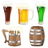 Colección de la cerveza Imagen de archivo libre de regalías