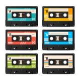 Colección de la cinta de casete del vector Imágenes de archivo libres de regalías