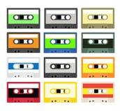 Colección de la cinta de casete del vintage Fotografía de archivo
