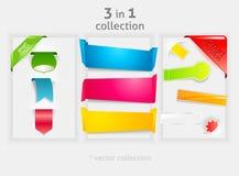 Colección de la cinta y de la bandera libre illustration
