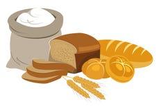 Colección de la comida de los productos de la panadería Logotipo de la panadería y del pan Imagen de archivo