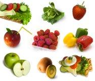 Colección de la comida sana Imagenes de archivo