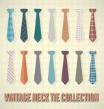 Colección de la corbata del vintage Imagenes de archivo