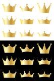 Colección de la corona Imágenes de archivo libres de regalías