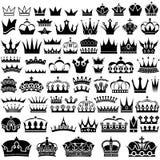 Colección de la corona ilustración del vector