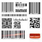 Colección de la escritura de la etiqueta de código de barras del vector Fotos de archivo libres de regalías