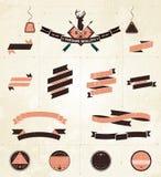 Colección de la etiqueta del vintage Imagen de archivo