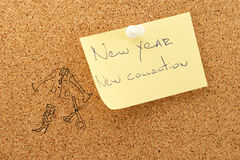 Colección de la etiqueta engomada del Año Nuevo nueva Imágenes de archivo libres de regalías