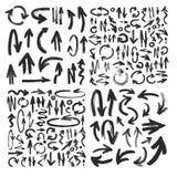 Colección de la FLECHA del movimiento del cepillo del vector Imagen de archivo libre de regalías
