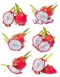 Colección de la fruta del dragón Imagenes de archivo