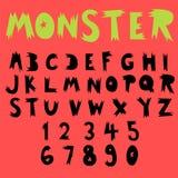 Colección de la fuente del garabato de la diversión, sistema dibujado mano del alfabeto Imagen de archivo