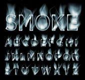 Colección de la fuente del humo stock de ilustración