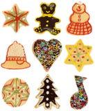 Colección de la galleta de la Navidad Fotografía de archivo