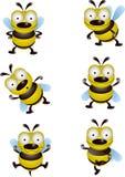 Colección de la historieta de la abeja Imagen de archivo