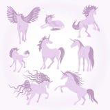Colección de la imagen de los unicornios del vector Foto de archivo