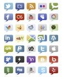 Botones sociales de los medios Imagenes de archivo