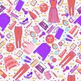 Colección de la moda de modelo de la ropa y de los accesorios Imagen de archivo
