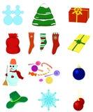 Colección de la Navidad stock de ilustración