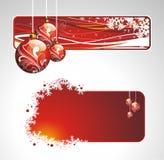 Colección de la Navidad con las banderas Imágenes de archivo libres de regalías