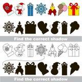 Colección de la Navidad Encuentre la sombra correcta Fotografía de archivo