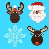 Colección de la Navidad icons-1 Año Nuevo Foto de archivo libre de regalías