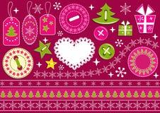 Colección de la Navidad para el libro de recuerdos. Foto de archivo libre de regalías