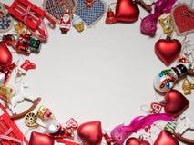 Colección de la Navidad, regalos y ornamentos decorativos Imágenes de archivo libres de regalías