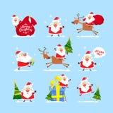 Colección de la Navidad Santa Claus Conjunto de la Navidad Papá Noel _2 fotografía de archivo