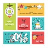 Colección de la Navidad y del Año Nuevo Fotografía de archivo