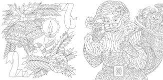Colección de la Navidad y del Año Nuevo Fotos de archivo libres de regalías