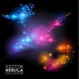 Colección de la nebulosa del vector stock de ilustración
