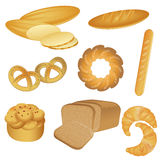 Colección de la panadería imagenes de archivo